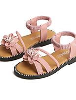 Недорогие -Девочки Обувь Полиуретан Лето Детская праздничная обувь Сандалии Цветы для Дети Черный / Зеленый / Розовый