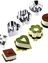 Недорогие -1шт Нержавеющая сталь 3D Торты Необычные гаджеты для кухни Круглый Прямоугольный Квадратный Формы для пирожных Инструменты для выпечки