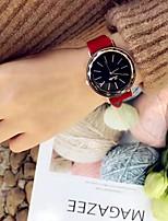 Недорогие -Жен. Спортивные часы Японский Кварцевый Кожа Черный / Красный / Коричневый Повседневные часы Аналоговый На каждый день - Черный Коричневый Красный / Нержавеющая сталь