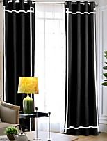 Недорогие -Современный Солнцезащитные 1 панель Занавес Спальня   Curtains