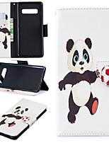 Недорогие -Кейс для Назначение SSamsung Galaxy Galaxy S10 Plus / Galaxy S10 E Кошелек / Бумажник для карт / со стендом Чехол Панда Твердый Кожа PU для S9 / S9 Plus / S8 Plus