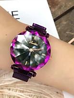 Недорогие -Жен. Спортивные часы Японский Кварцевый Фиолетовый / Небесно-голубой Повседневные часы Аналоговый Блестящие На каждый день - Лиловый Синий / Нержавеющая сталь