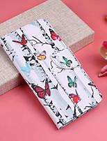Недорогие -Кейс для Назначение Apple iPhone XR / iPhone XS Max Кошелек / Бумажник для карт / со стендом Чехол Бабочка / дерево Твердый Кожа PU для iPhone XS / iPhone XR / iPhone XS Max