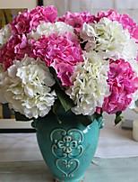 Недорогие -Искусственные Цветы 1 Филиал Классический европейский Пастораль Стиль Гортензии Вечные цветы Букеты на стол