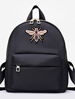 Недорогие -Жен. Мешки PU рюкзак Пуговицы / Молнии Сплошной цвет Черный / Красный
