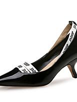 Недорогие -Жен. Лакированная кожа Весна лето Классика Обувь на каблуках На каблуке-рюмочке Заостренный носок Черный / Лозунг