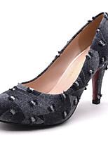 Недорогие -Жен. Деним Весна & осень Милая Обувь на каблуках На шпильке Круглый носок Серый / Контрастных цветов