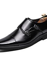 Недорогие -Муж. Официальная обувь Искусственная кожа Весна Классика / Английский Туфли на шнуровке Дышащий Черный / Коричневый / Свадьба / Для вечеринки / ужина