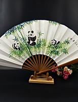 Недорогие -Взрослые Муж. Жен. азиатский кисточка В китайском стиле Косплэй Kостюмы Назначение Для вечеринок На каждый день Подарок Бамбук Суанская бумага Складной ручной вентилятор