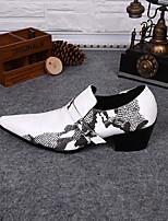 Недорогие -Муж. Комфортная обувь Кожа Весна Мокасины и Свитер Белый