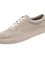 Недорогие -Муж. Комфортная обувь Кожа Весна & осень На каждый день Кеды Кофейный / Коричневый