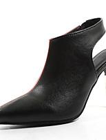 Недорогие -Жен. Полиуретан Весна лето Обувь на каблуках На шпильке Заостренный носок Белый / Красный / Контрастных цветов