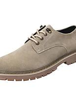 Недорогие -Муж. Комфортная обувь Замша / Кожа Весна Туфли на шнуровке Серый / Миндальный / Хаки