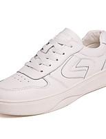 Недорогие -Муж. Комфортная обувь Полиуретан Весна На каждый день Кеды Нескользкий Контрастных цветов Белый / Черный / Бежевый