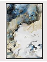 Недорогие -С картинкой Отпечатки на холсте - Птицы Модерн Modern