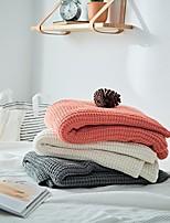 Недорогие -Одеяла / Диван Бросай / Многофункциональные одеяла, Однотонный Хлопок Мягкость удобный Очень мягкий одеяла