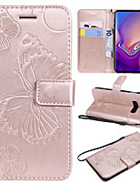 Недорогие -Кейс для Назначение SSamsung Galaxy Galaxy S10 / Galaxy S10 E Бумажник для карт / со стендом / Флип Чехол Бабочка Твердый Кожа PU для S9 / S9 Plus / S8 Plus