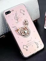 Недорогие -Кейс для Назначение Apple iPhone XS Max / iPhone 6 со стендом Кейс на заднюю панель Однотонный Твердый Акрил для iPhone XS / iPhone XR / iPhone XS Max