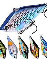 Недорогие -6 pcs Рыболовная приманка Жесткая наживка пластик Общий Тонущие Морское рыболовство Ужение на спиннинг Троллинг и рыболовное судно