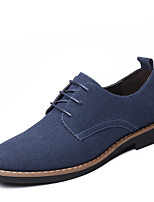 cheap -Men's Spring / Fall Classic / Casual / Vintage Daily Office & Career Oxfords Leather Breathable Non-slipping Wear Proof Black / Blue / Brown