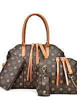 cheap -Women's Zipper PU Bag Set Color Block 4 Pieces Purse Set Black / Brown / Red