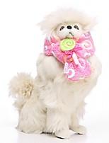 Недорогие -Собаки Шарф для собаки Одежда для собак Персонажи Кофейный Красный Розовый 100%коралловый флис Костюм Назначение Бульдог Мопс Бишон Фриз Осень Зима Мужской Сохраняет тепло Бижутерия