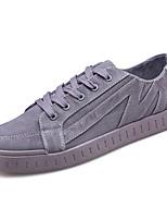 Недорогие -Муж. Комфортная обувь Полиуретан Весна На каждый день Кеды Нескользкий Черный / Серый / Коричневый