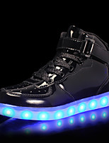 Недорогие -Мальчики / Девочки Обувь Полиуретан Весна & осень Обувь с подсветкой Кеды LED для Черный / Синий / Розовый