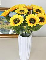 Недорогие -Искусственные Цветы 5 Филиал Классический Традиционный / классический Пастораль Стиль Подсолнухи Букеты на стол