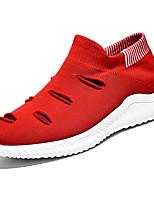 Недорогие -Муж. Комфортная обувь Эластичная ткань / Tissage Volant Весна На каждый день Мокасины и Свитер Нескользкий Контрастных цветов Красный / Черно-белый / Черный / Красный