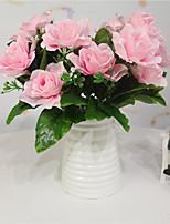 Недорогие -Искусственные Цветы 1 Филиал Односпальный комплект (Ш 150 x Д 200 см) Вечеринка Пастораль Стиль Гардения Букеты на стол