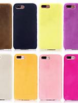 Недорогие -Кейс для Назначение Apple iPhone XS Max / iPhone 6 Ультратонкий Кейс на заднюю панель Однотонный Мягкий текстильный для iPhone XS / iPhone XR / iPhone XS Max