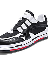 Недорогие -Муж. Комфортная обувь Сетка / Полиуретан Весна На каждый день Кеды Нескользкий Контрастных цветов Белый / Черный / Бежевый
