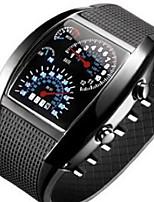 Недорогие -Муж. Спортивные часы Цифровой силиконовый Черный / Белый / Синий Светящийся Повседневные часы Cool Цифровой На каждый день Мода - Оранжево-красный Синий Светло-синий Один год Срок службы батареи