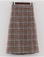 Недорогие -женские юбки миди в линию - полосатые