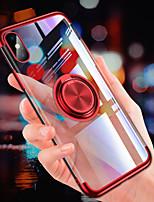 Недорогие -Кейс для Назначение Apple iPhone XR / iPhone XS Max Покрытие / Кольца-держатели / Ультратонкий Кейс на заднюю панель Однотонный Мягкий ТПУ для iPhone XS / iPhone XR / iPhone XS Max