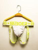 cheap -Men's Mesh / Basic Briefs Underwear / G-string Underwear Mid Waist Red Blue White M L XL