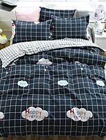Недорогие -Пододеяльник наборы Stripes / Рябь / Современный стиль Полиэстер Активный краситель 4 предметаBedding Sets
