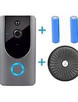 Недорогие -HQCAM Smart Wireless Video Doorbell Wifi doorbell Camera Intercom Door Bell Video doorbel Call For Apartments IR Alarm + Wireless chime+2pcs 18650 battery WIFI