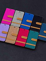Недорогие -Кейс для Назначение SSamsung Galaxy S9 / S9 Plus / S8 Plus Кошелек / Бумажник для карт / со стендом Чехол Плитка Твердый текстильный
