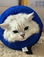 Недорогие -Собаки Коты Ошейники Медобеспечение Дышащий Безопасность Однотонный Плюшевая ткань Синий