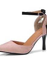Недорогие -Жен. Полиуретан Весна лето Обувь на каблуках На шпильке Черный / Миндальный / Светло-Розовый