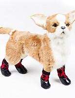Недорогие -Кошка Собака Ботинки и сапоги На каждый день Водонепроницаемый Мультипликация Красный Для домашних животных