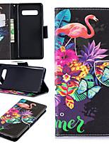 Недорогие -Кейс для Назначение SSamsung Galaxy Galaxy S10 Plus / Galaxy S10 E Кошелек / Бумажник для карт / со стендом Чехол единорогом Твердый Кожа PU для S9 / S9 Plus / S8 Plus