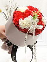 Недорогие -Искусственные Цветы 1 Филиал Классический Свадебные цветы Пастораль Стиль Розы Гвоздика Букеты на стол