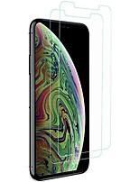 Недорогие -Защитная плёнка для экрана для Apple iPhone XS / iPhone XR / iPhone XS Max Закаленное стекло 2 штs Защитная пленка для экрана HD / Уровень защиты 9H / 2.5D закругленные углы