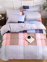 Недорогие -Пододеяльник наборы Цветочный принт / Stripes / Рябь / Современный стиль Полиэфир / полиамид С принтом 4 предметаBedding Sets