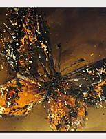 Недорогие -Hang-роспись маслом Ручная роспись - Абстракция Поп-арт Modern Включите внутренний каркас