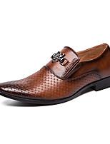 Недорогие -Муж. Кожаные ботинки Наппа Leather Весна лето Деловые / На каждый день Мокасины и Свитер Доказательство износа Черный / Коричневый