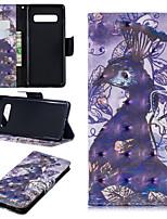 Недорогие -Кейс для Назначение SSamsung Galaxy Galaxy S10 Plus / Galaxy S10 E Кошелек / Бумажник для карт / со стендом Чехол Животное Твердый Кожа PU для S9 / S9 Plus / S8 Plus
